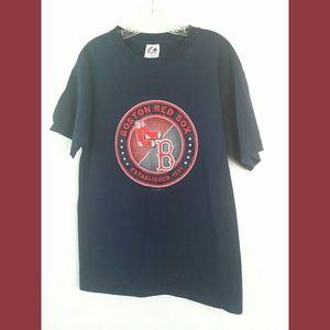 Boston Red Sox Blue SS Graphic Tshirt Medium